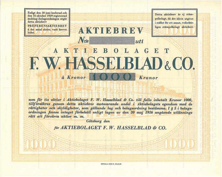 Hasselblad & Co., AB F.W
