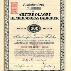 Henriksborgs Fabriker, AB
