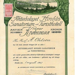 Hindås Sanatorium och Turisthotell, AB