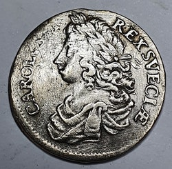 *Karl XI 2 Mark, 1675