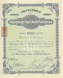 Hjul- & Parkettfabrikerna, AB, 100 kr