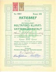 Hultafors Klimatvattenkuranstalt, AB