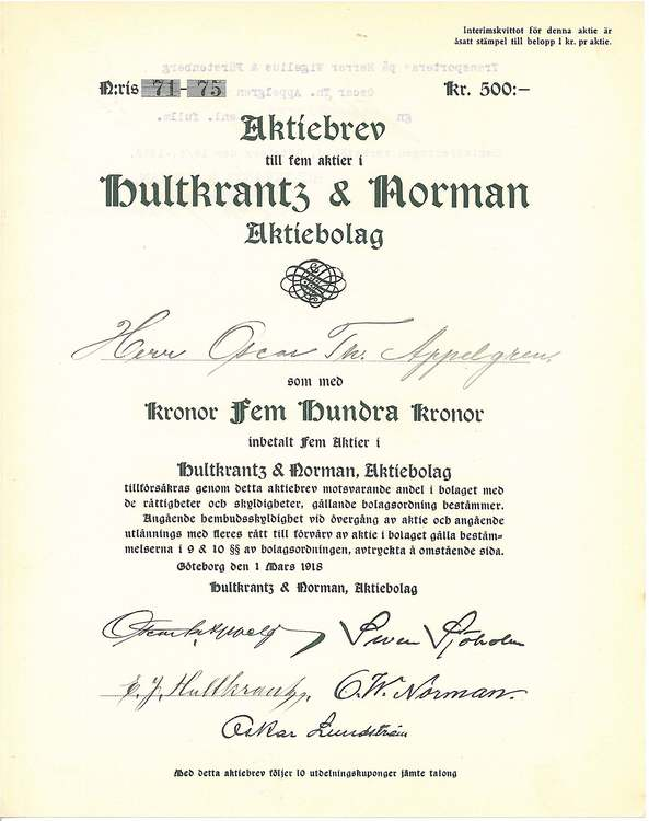 Hultkrantz & Norman AB