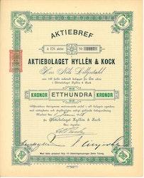 Hyllén & Kock, AB, 1918