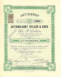 Hyllén & Kock, AB, 1911