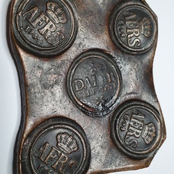 Adolf Fredrik, 1/2 Daler Plåtmynt 1754