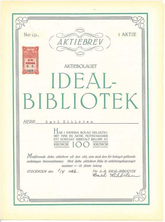 Ideal-Bibliotek, AB, 1926