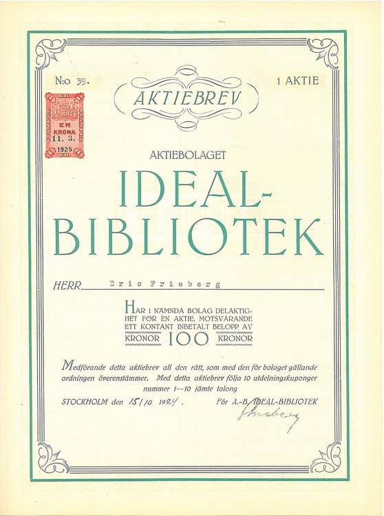 Ideal-Bibliotek, AB