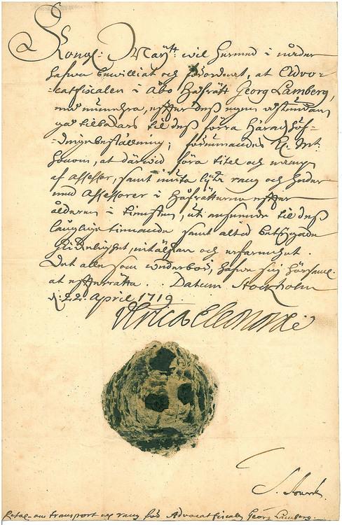 Ulrika Eleonora 1719