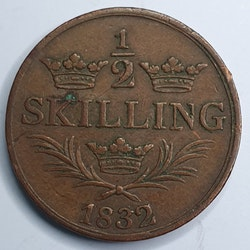 *Karl XIV Johan 1/2 Skilling