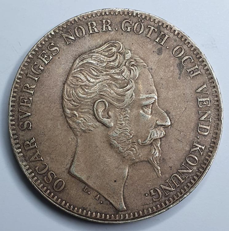*Oscar I, 1 Riksdaler Specie, 1857