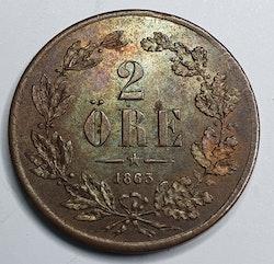 *Karl XV 2 Öre 1863