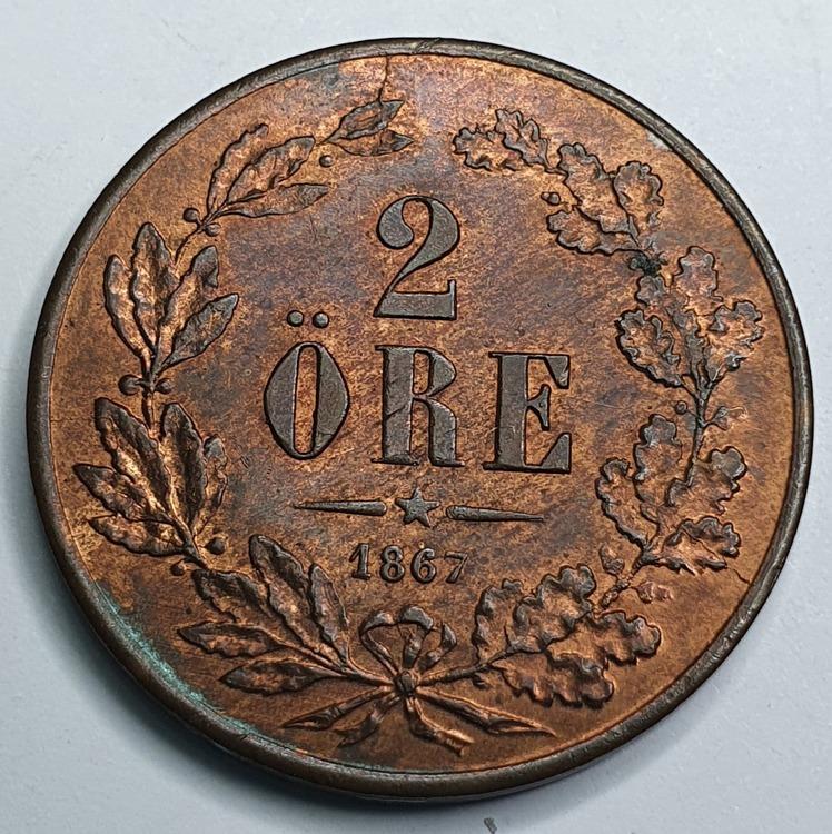 *Karl XV 2 Öre 1867