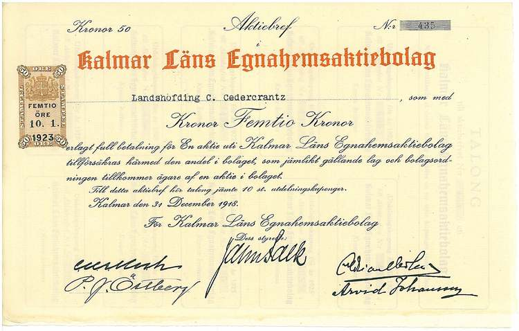 Kalmar Läns Egnahemsaktiebolag