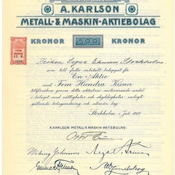 Karlsson Metall-& Maskin AB, A