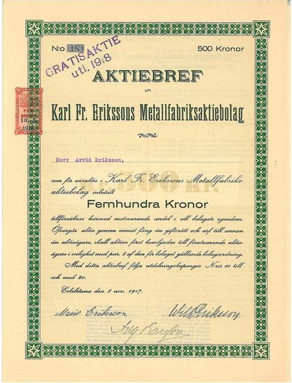 Karl Fr. Erikssons Metallfabriks AB