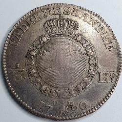 *Gustav III 1/6 Riksdaler 1790