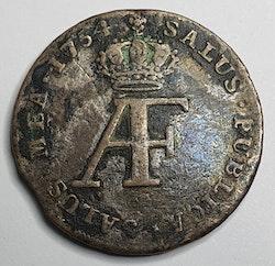 Adolf Fredrik 10 Öre 1754