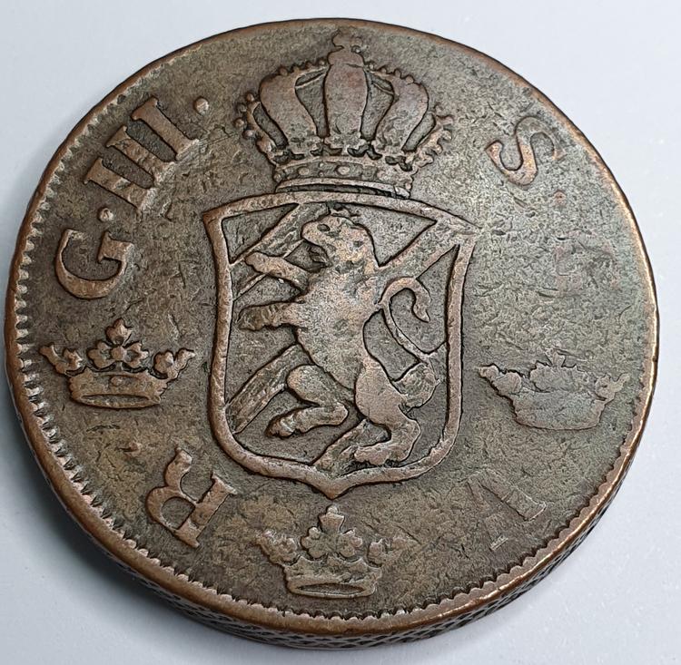 Gustav III, 2 Öre SM, 1777