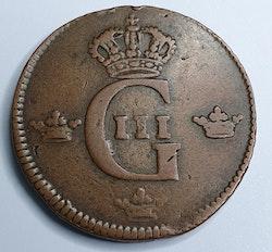 Gustav III, 1 Öre SM, 1778