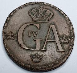 Gustav IV Adolf, 1/2 Skilling 1794