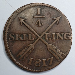 Karl XIII, 1/4 Skilling 1817