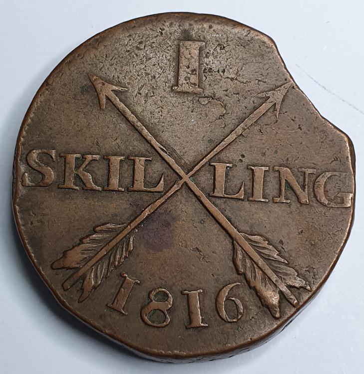 Karl XIII, 1 Skilling 1816