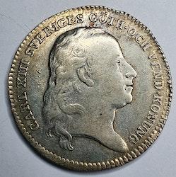 Karl XIII, 1/6 Riksdaler 1814