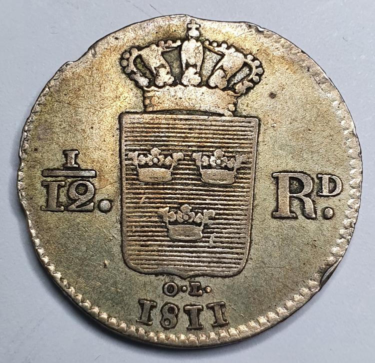 Karl XIII, 1/12 Riksdaler 1811