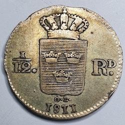 Karl XIII, 1/12 Rdr 1811