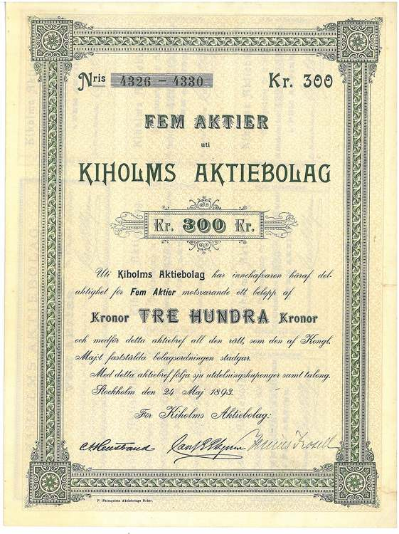 Kiholms Aktiebolag