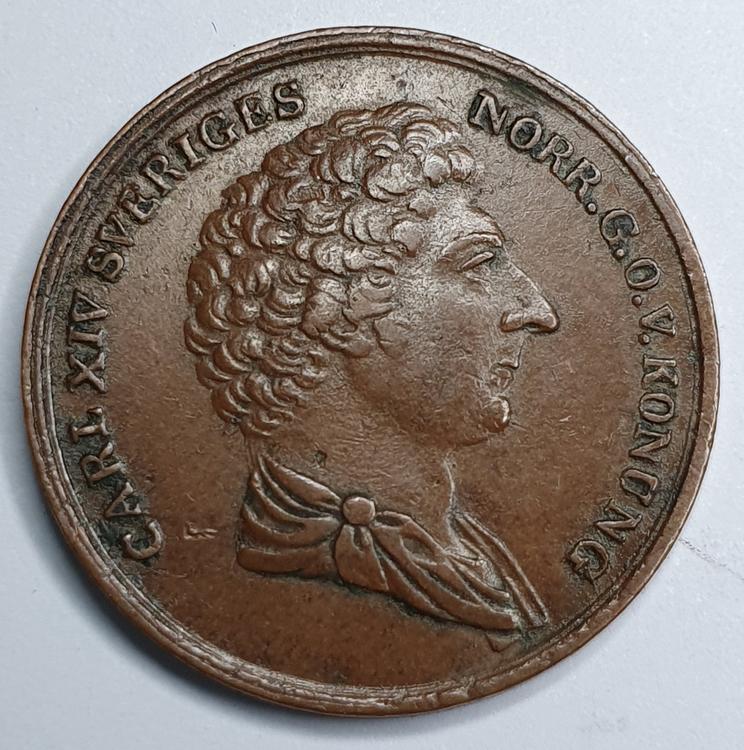 Karl XIV Johan 1/4 Skilling 1833/32