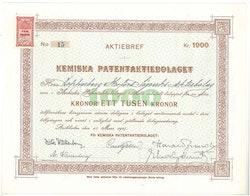 Kemiska patent AB (Axel Wallenberg)