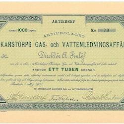 Karstorps Gas och Vattenledningsaffär, AB