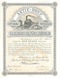 Falkenbergs Jernvägs AB 1000 kr, 1902
