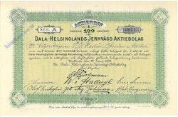 Dala-Helsinglands Jernvägs AB 100 kr, 1898