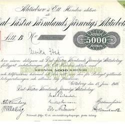 Dal-Västra Värmlands Järnvägs AB, 5 000 kr, 1916