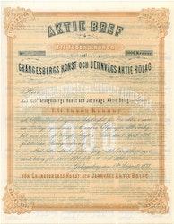 Grängesbergs Konst och Jernvägs AB, 1 000 kr, 1877