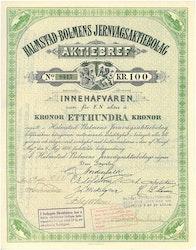 Halmstad-Bolmens Jernvägs AB, 100 kr
