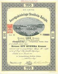 Jernvägs AB Stockholm-Saltsjö, 100 kr, 1916