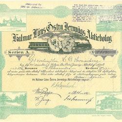 Kalmar Läns Östra Järnvägs AB, 100 kr, 1898