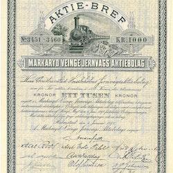 Markaryd Veinge Jernvägs AB, 1000 kr, 1898