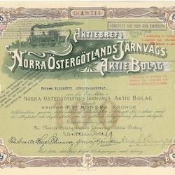 Norra Östergötlands Järnvägs AB, 100 kr