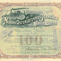 Norra Östergötlands Järnvägs AB, 100 kr, 1904