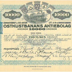 Oskustbanans AB, 10 000 kr, 1923