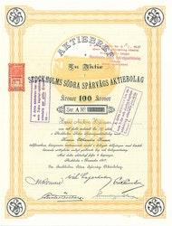 Stockholms Södra Spårvägs AB, 100 kr, 1917