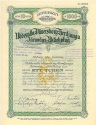 Uddevalla-Vänersborg-Herrljunga Järnvägs AB 1 000 kr, 1920