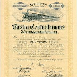 Västra Centralbanans Järnvägs AB, 10 000 kr, 1904