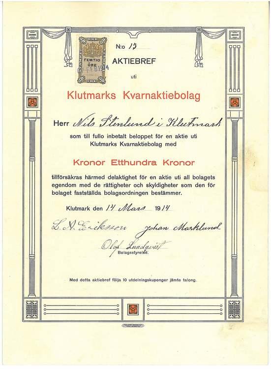 Klutmarks Kvarn AB