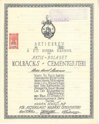 Kolbäcks Cementgjuteri, AB